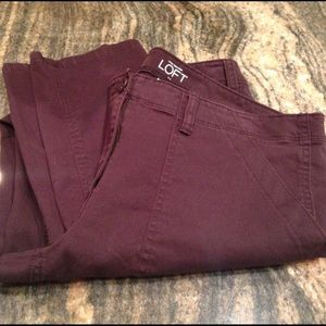 Loft plum colored pants